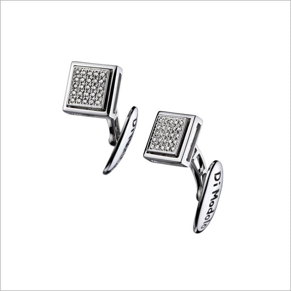 white gold & diamond cufflinks