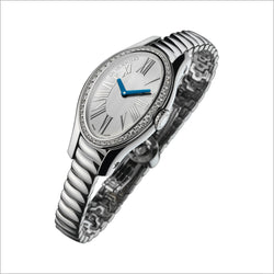 18K WHITE GOLD & DIAMOND PAVED WATCH