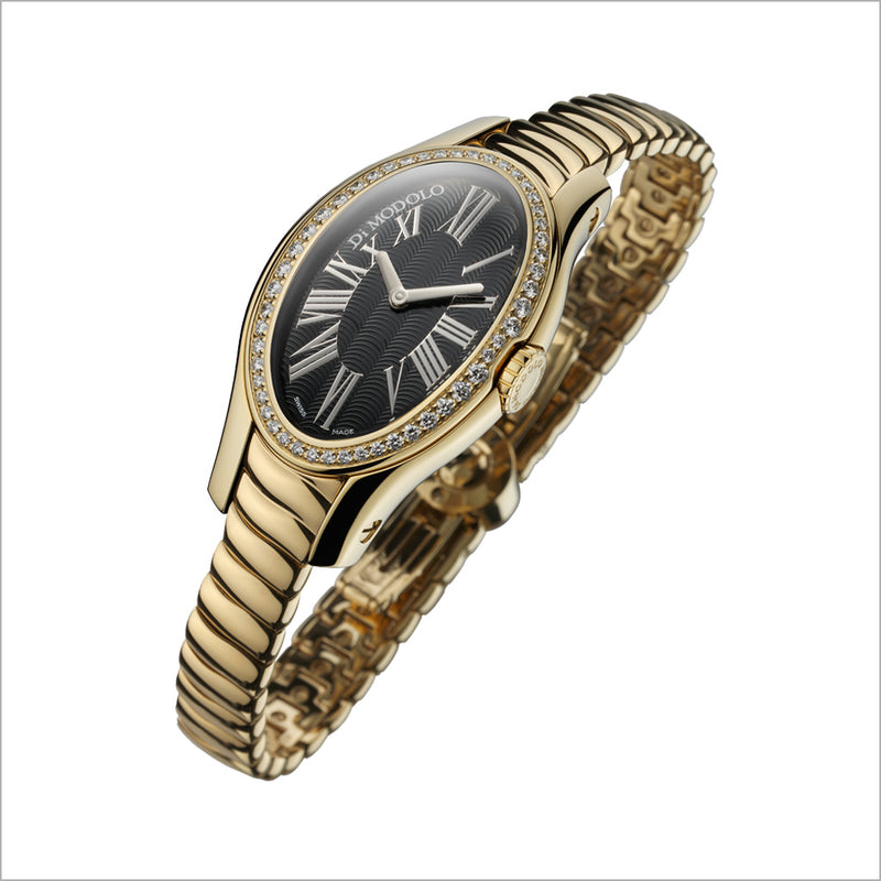 18K YELLOW GOLD & DIAMOND WATCH