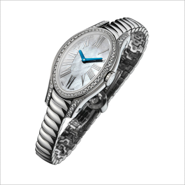 18K WHITE GOLD & DIAMOND WATCH
