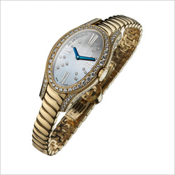 18K GOLD & DIAMOND WATCH WITH MOTHER OF PEARL