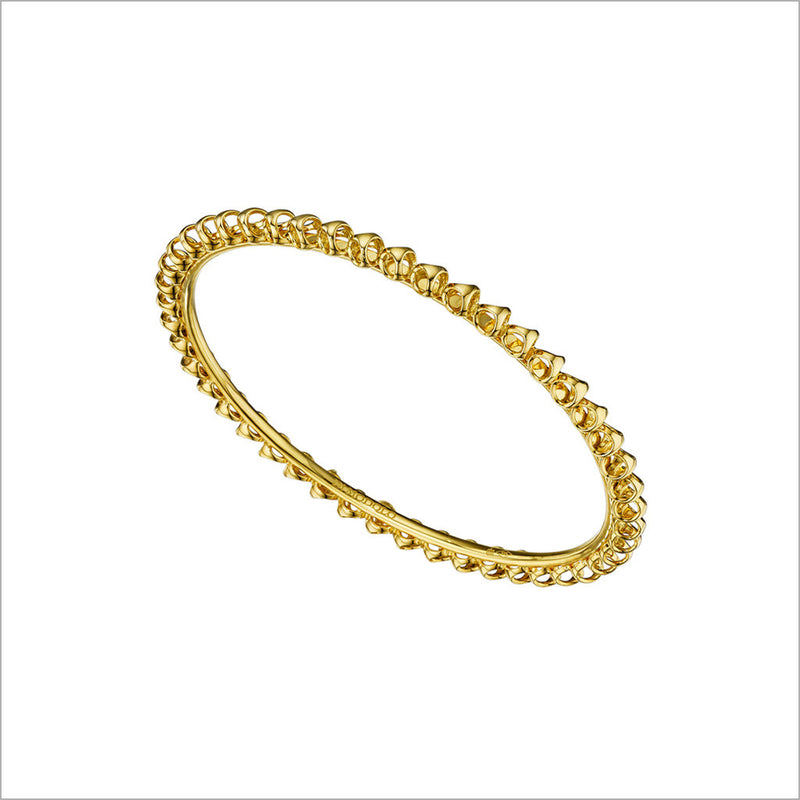 Icona Gold Plated Stackable Bangle in Sterling Silver