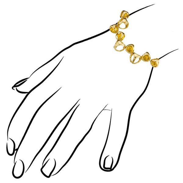 Icona Golden Quartz Bracelet in Sterling Silver Plated with Gold