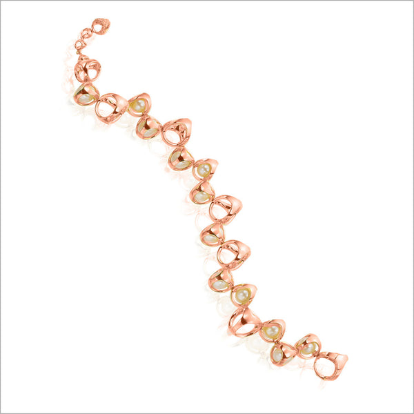 Icona Pearl Bracelet in Sterling Silver Plated with 18k Rose Gold