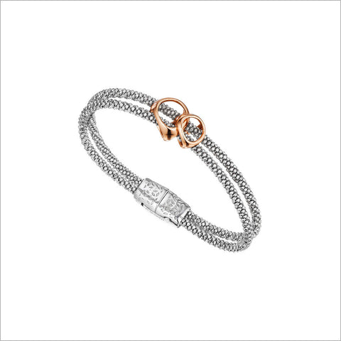 Linked By Love Bracelet in Sterling Silver plated with Rose Gold