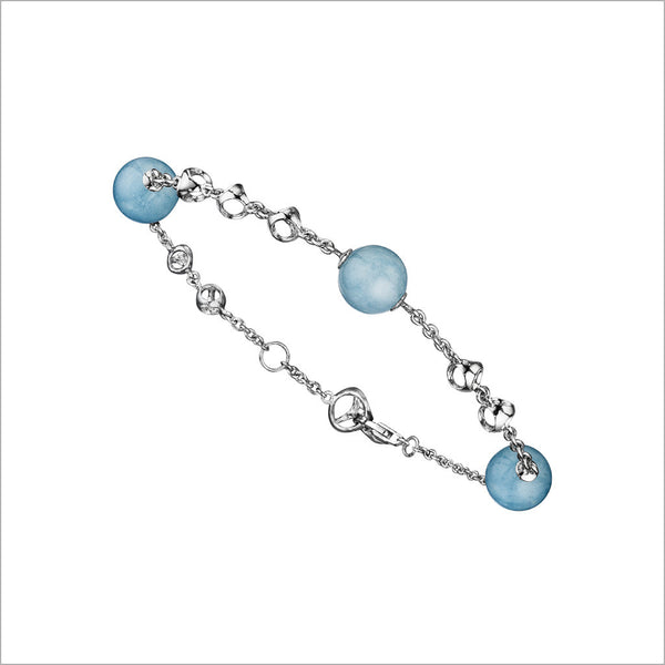 Icona Aquamarine Bracelet in Sterling Silver