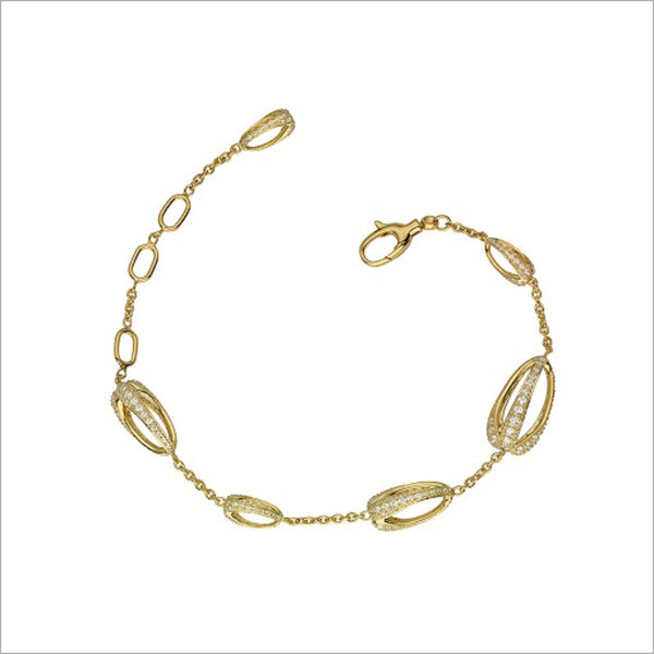 Triadra 18K Yellow Gold & Golden Diamond Bracelet