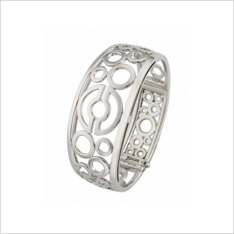 Tempia 18K White Gold Bangle