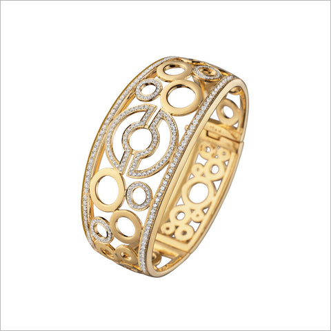 Tempia 18K Yellow Gold & Diamond Bangle