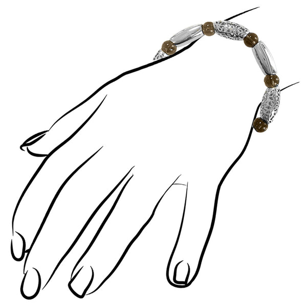 Sahara Smoky Quartz Bracelet in Sterling Silver
