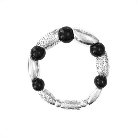 Sahara Black Onyx Bracelet in Sterling Silver