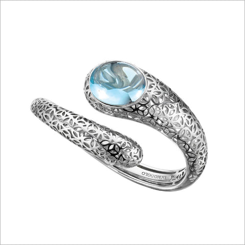Sahara Blue Topaz Bangle in Sterling Silver