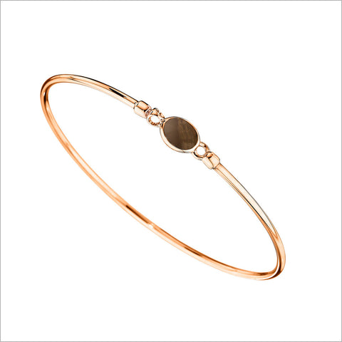 Lolita Rose & Smoky Quartz Bangle in Sterling Silver
