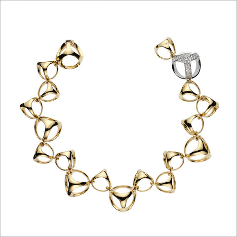 Triadra 18K Gold Bracelet with Diamonds