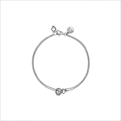 Linked By Love Sterling Silver Diamond Bracelet