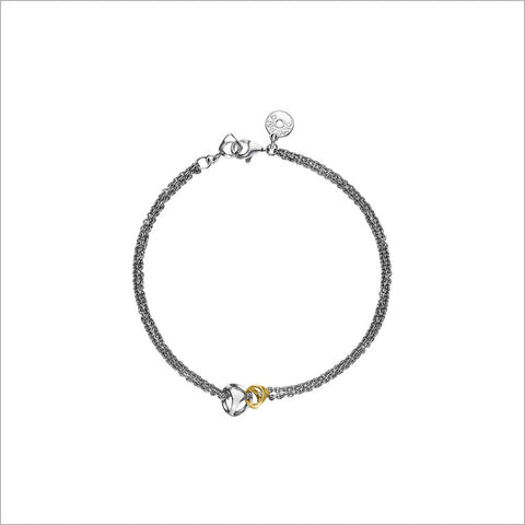 Linked By Love Silver & Gold Bracelet