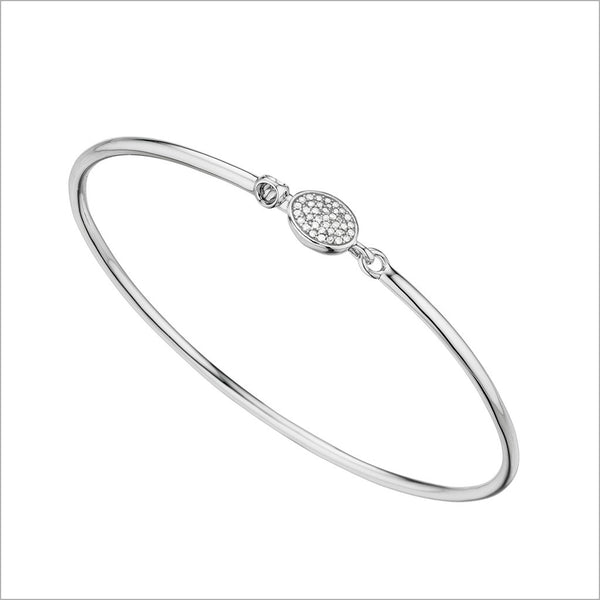Lolita Silver & Diamond Bangle