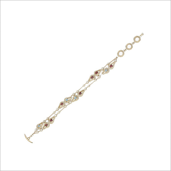 Fiamma 18K Yellow Gold & Multi-Stone Bracelet with Diamonds