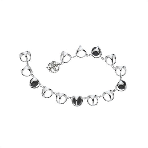 Triadra 18K White Gold Bracelet with Black Onyx and Diamonds
