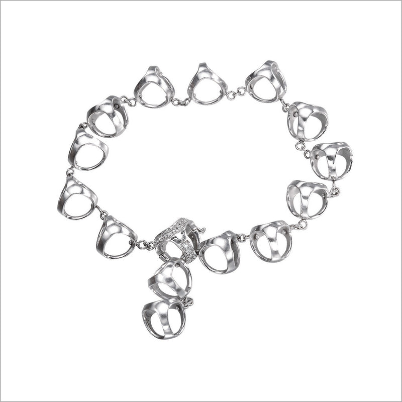 Triadra 18K White Gold & Diamond Bracelet