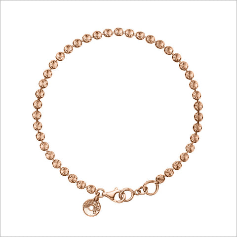 Diamante Bracelet in Sterling Silver plated with 18K Rose Gold