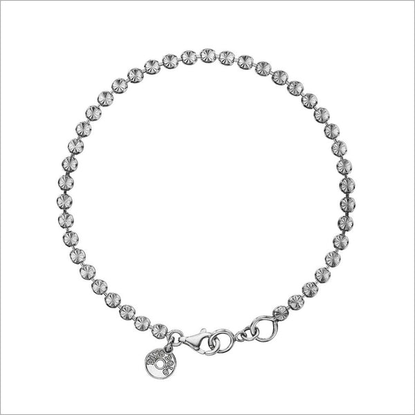 Diamanté Sterling Silver Bracelet