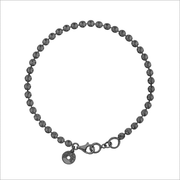 Diamanté Bracelet in Sterling Silver plated with Black Rhodium