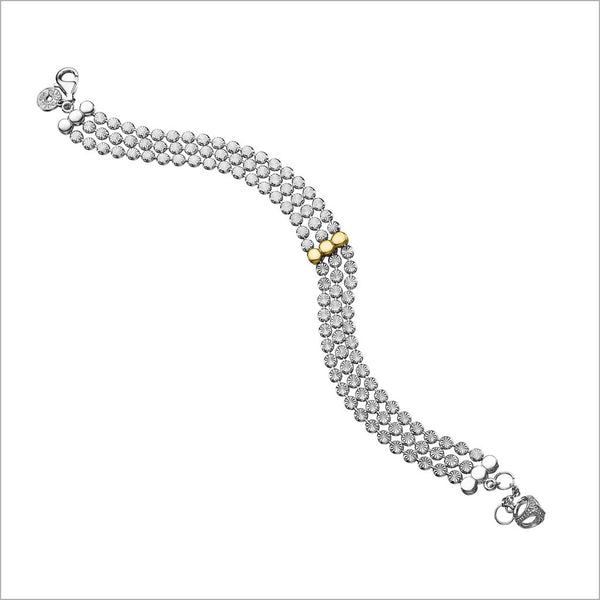 Diamanté 18K Gold Plated & Silver Bracelet