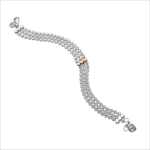 Diamante 18K Gold Plated & Silver Bracelet
