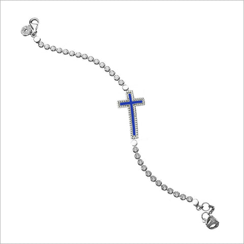Diamante Charm Cross Bracelet