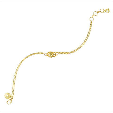 Linked By Love 18K Gold & Diamond Bracelet