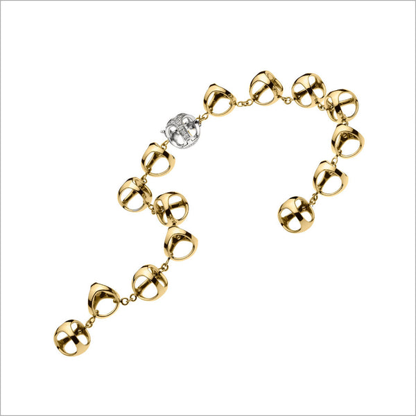 Icona 18K Yellow and White Gold & Diamond Bracelet