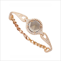 Giulietta 18k Rose Gold & Smoky Quartz Bracelet with Diamonds
