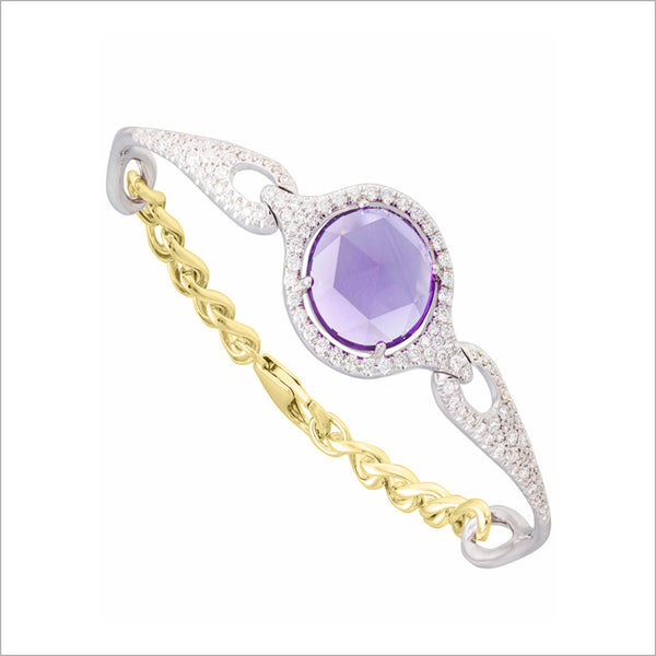Giulietta 18K Yellow & White Gold Amethyst & Diamond Bracelet