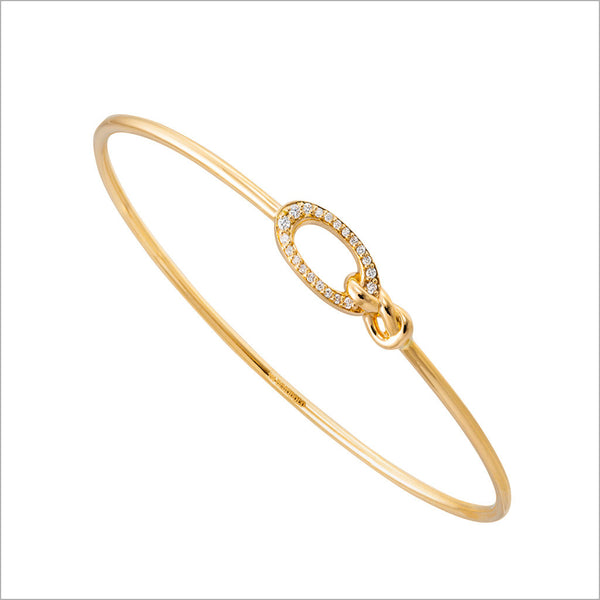Nodo 18K Yellow Gold & Diamond Bangle