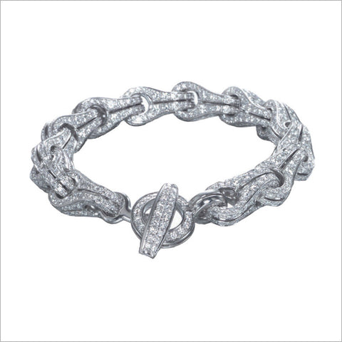 Men's Falco 18K White Gold & Diamond Chain Bracelet