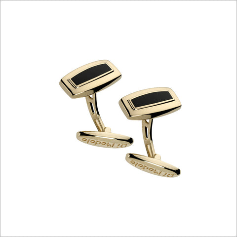 Men's Falco 18K Yellow Gold & Black Onyx Cufflinks