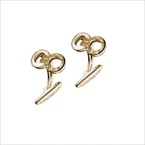 Men's Falco 18K Yellow Gold & Diamond Cufflinks