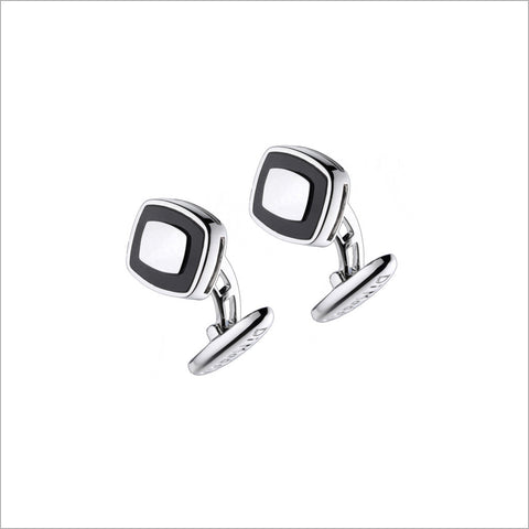 Men's Falco 18K White Gold & Black Onyx Cufflinks