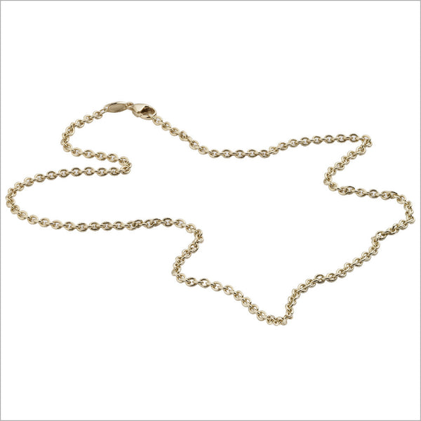 "Favola 18K Yellow Gold 22"" Unisex Chain"