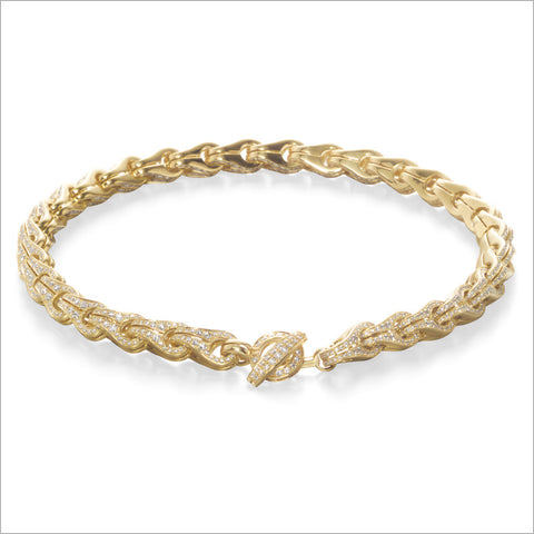 Men's Falco 18K Yellow Gold & Diamond Chain Necklace