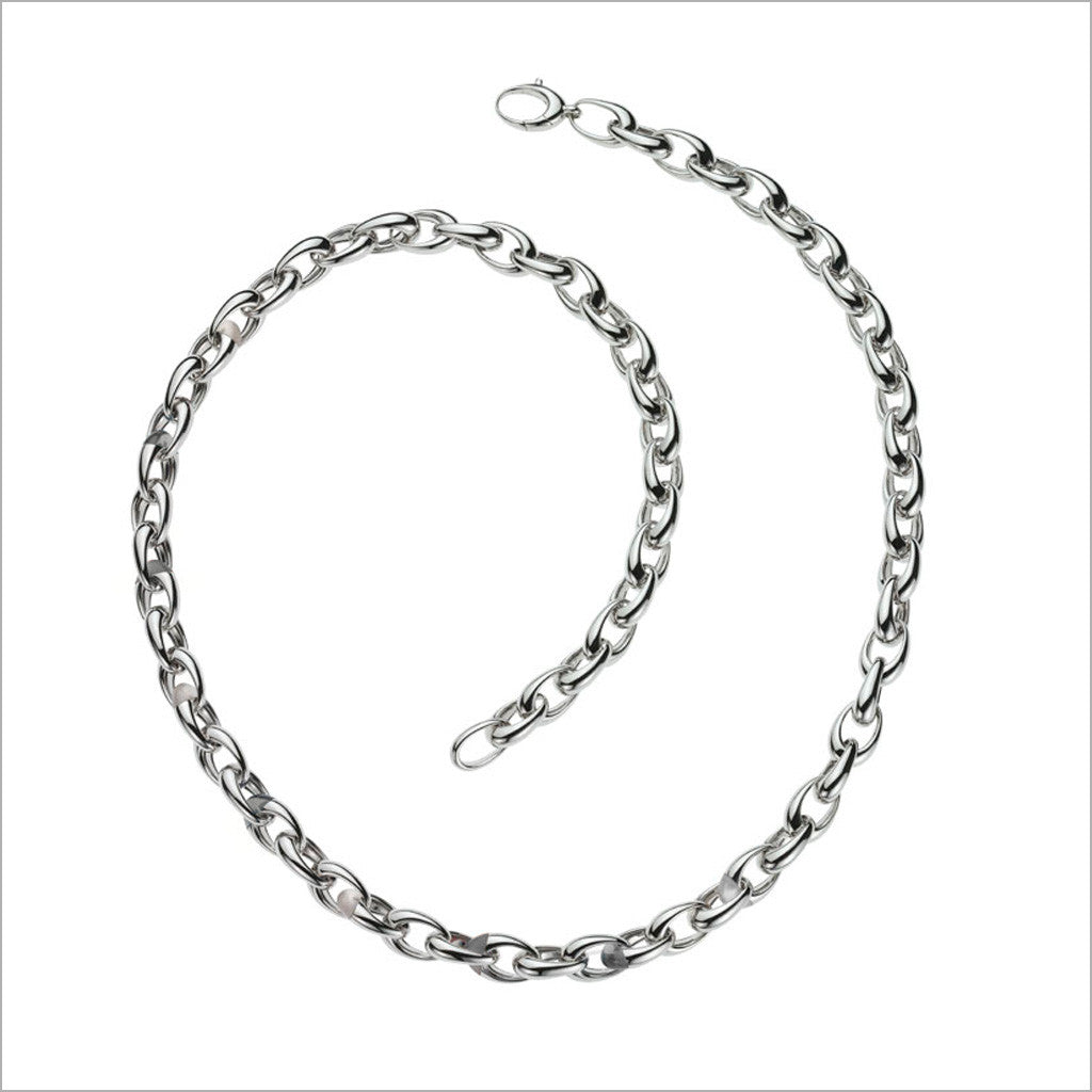 Men's Falco 18K White Gold Chain Necklace