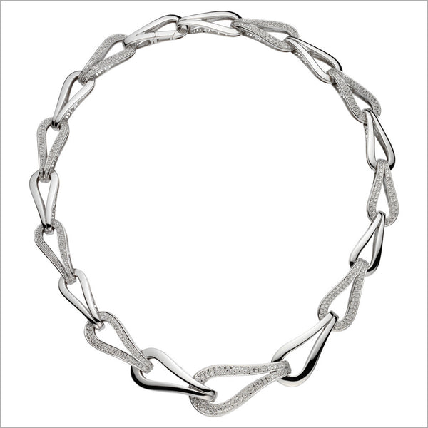 Fiamma 18K White Gold & Diamond Necklace