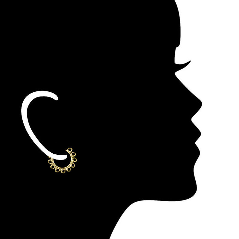 Icona Small Hoop Earrings in Sterling Silver plated with 18k Yellow Gold
