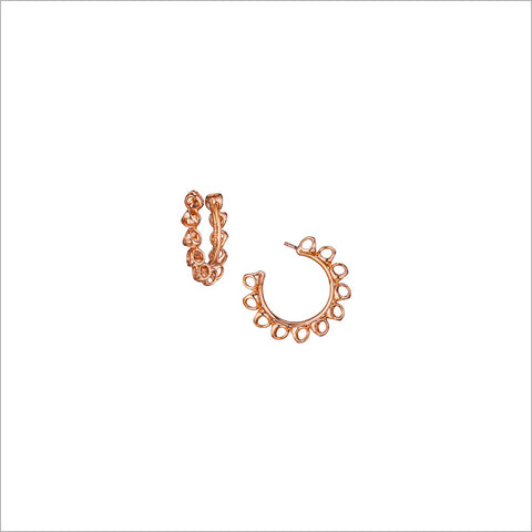 Icona Small Hoop Earrings in Sterling Silver plated with 18k Rose Gold