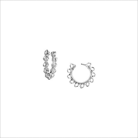 Icona Sterling Silver Small Hoop Earrings