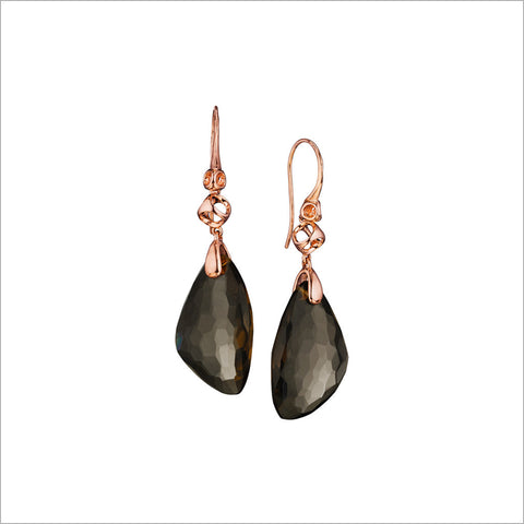 Icona Rose & Smoky Quartz Drop Earrings