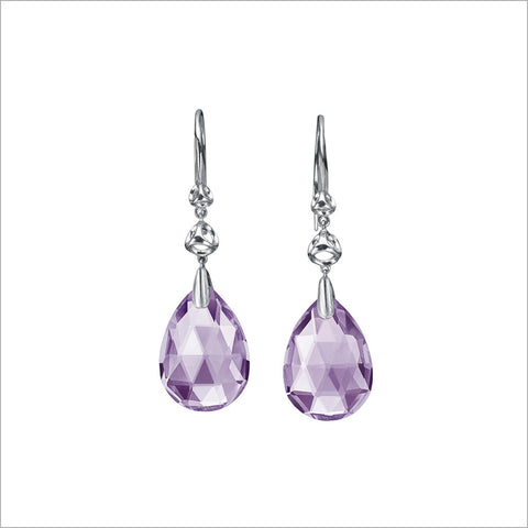 Icona Sterling Silver & Amethyst Drop Earrings