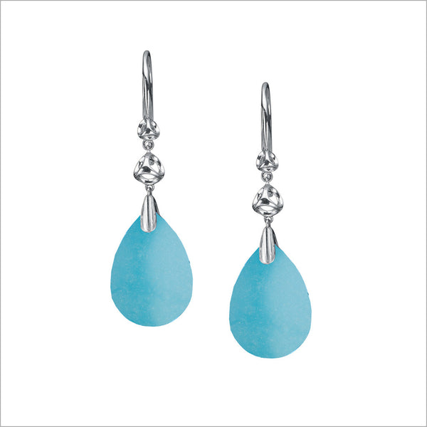 Icona Turquoise Drop Earrings in Sterling Silver