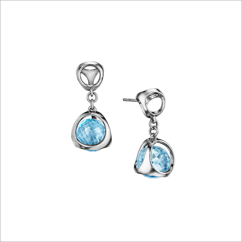 jewellers earrings topaz burns products ltd blue